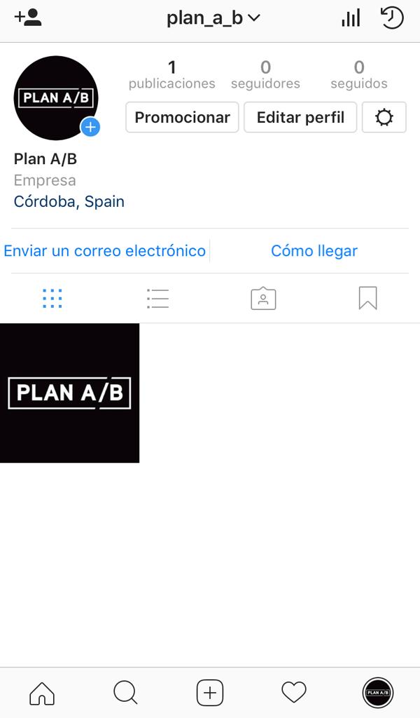 Perfil de empresa Instagram