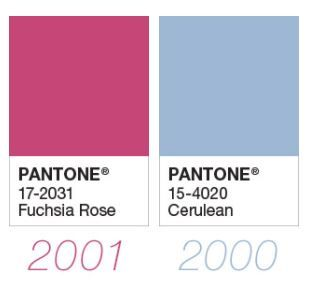 Colores del año Pantone 00-01