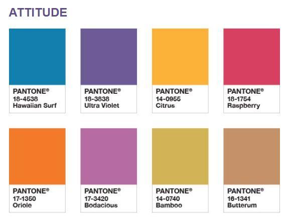 Paleta Attitude Pantone