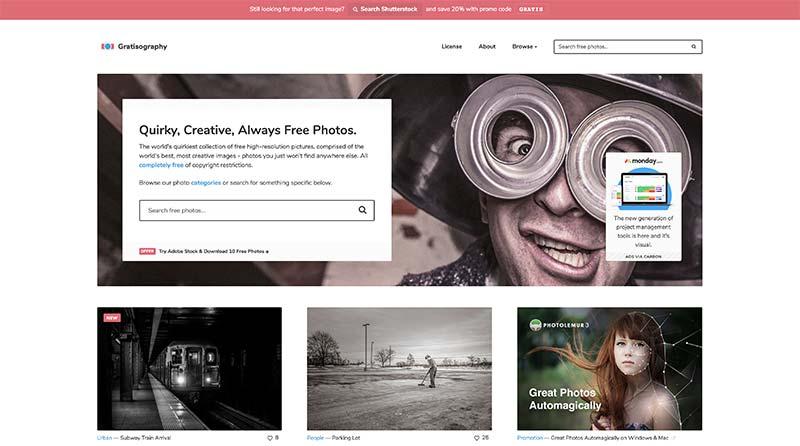 Gratisography banco de imágenes gratuito