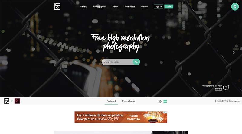 LifeOfPix banco de imágenes gratuito