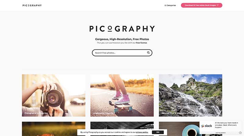 Picography banco de imágenes gratuito