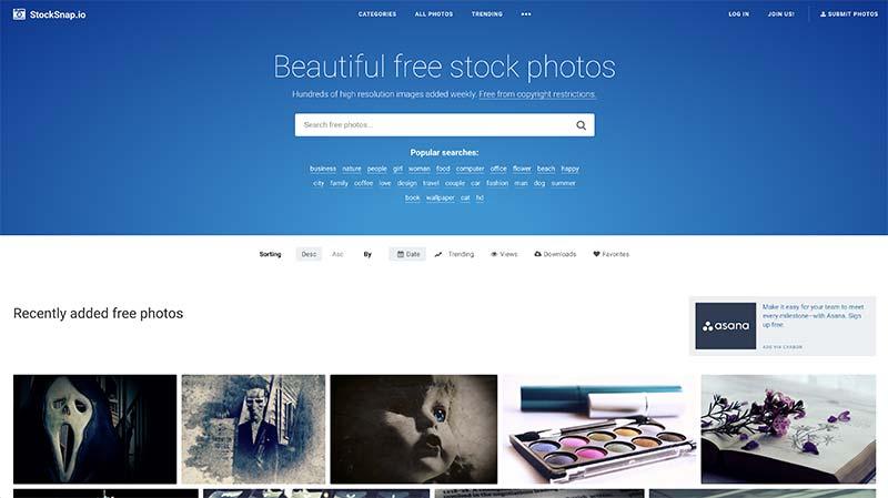 StockSnap banco de imágenes gratuito