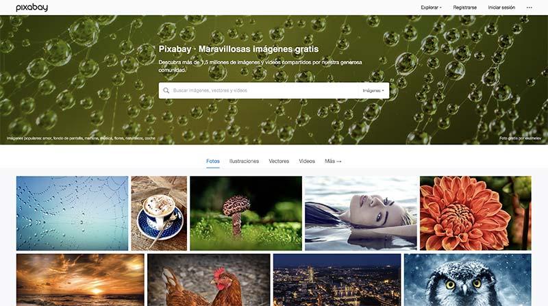 Pixabay banco de imágenes gratuito