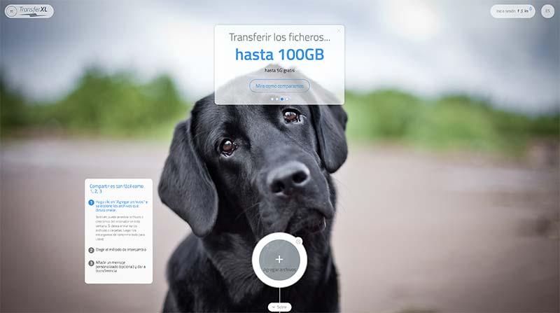 Transferxl compartir archivos grandes
