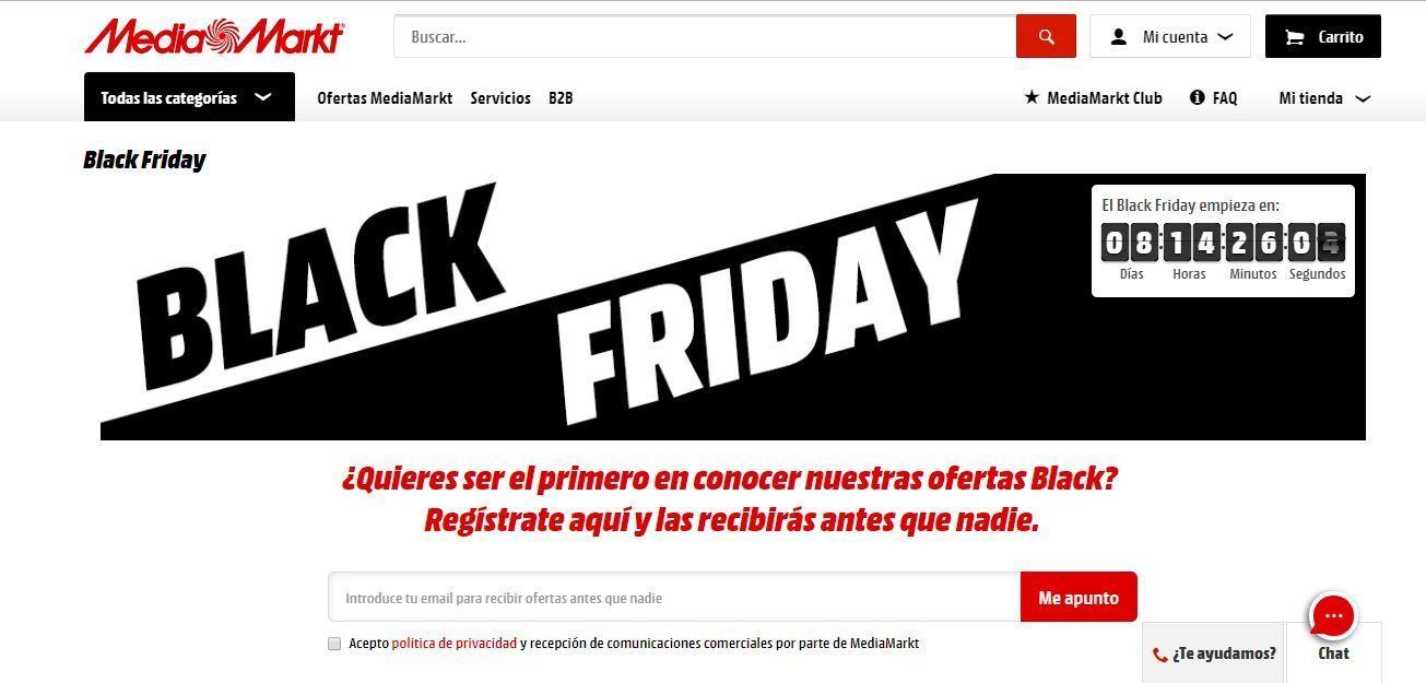 Cuenta atrás Media Markt black friday