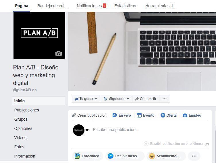 Programar publicaciones en Facebook desde la página principal