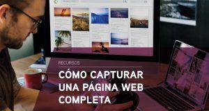 Cómo capturar una página web completa