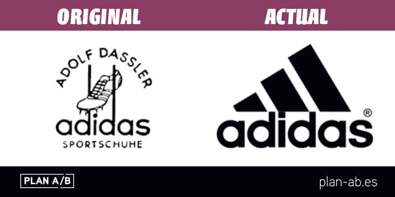 Logotipo de Adidas original y actual