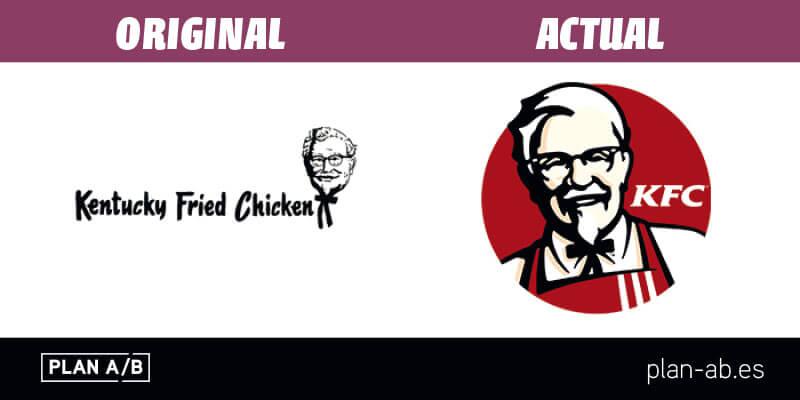 Logotipo de KFC original y actual