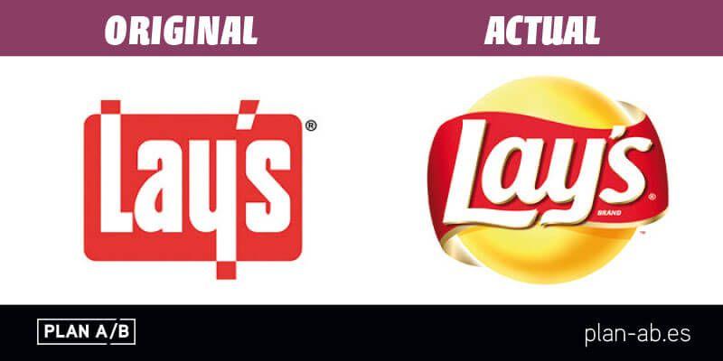 Logotipo de Lays original y actual