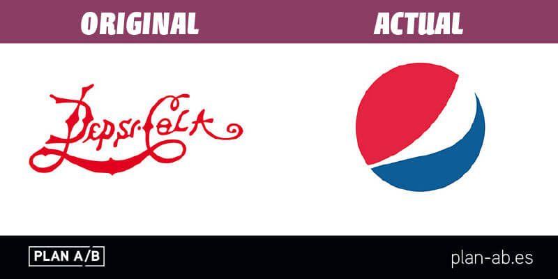 Logotipo de Pepsi original y actual