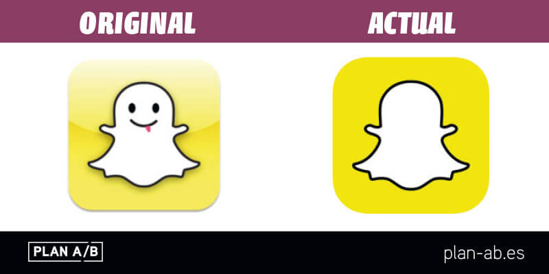 Logotipo de Snapchat original y actual