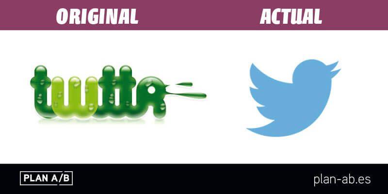 Logotipo de Twitter original y actual