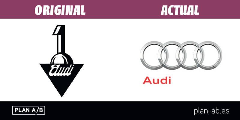 Logotipo de Audi original y actual