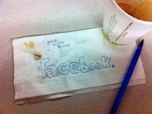 Boceto logo Facebook