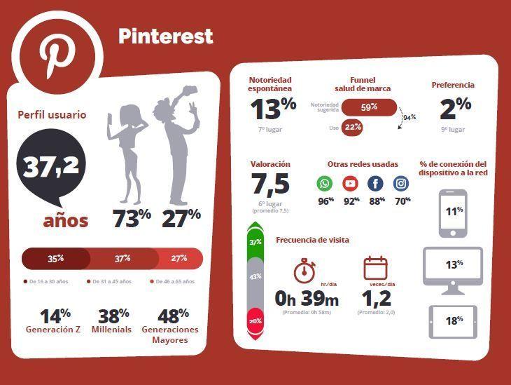 Perfil de los usuarios de Pinterest