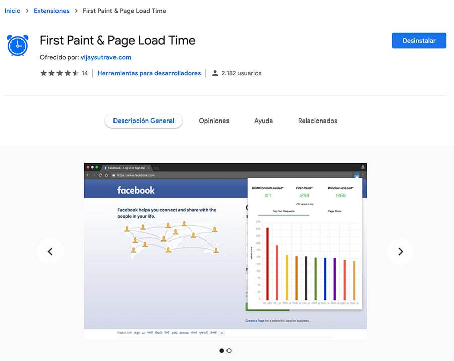 First Paint Page Load Time