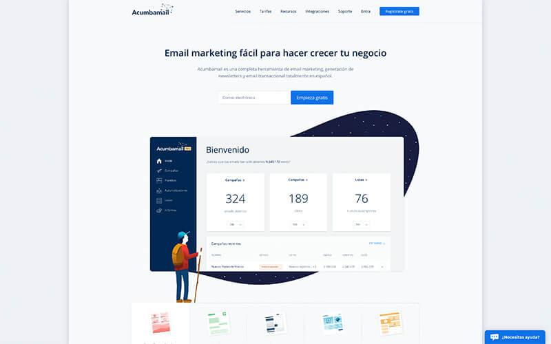 Acumbamail herramienta de email marketing