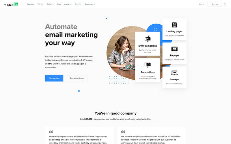 Mailerlite herramienta de email marketing