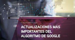 Actualizaciones más importantes del algoritmo de Google