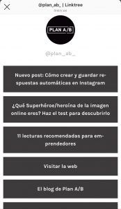 Linktree para Instagram