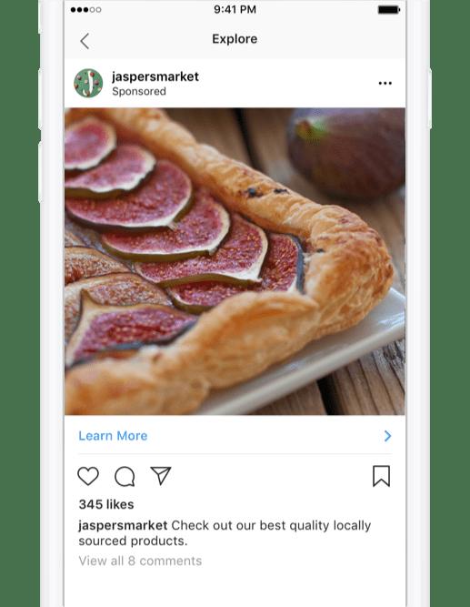 Sección Explorar Instagram