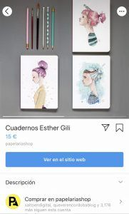 Producto etiquetado Instagram