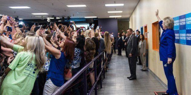 Selfie con Hillary Clinton