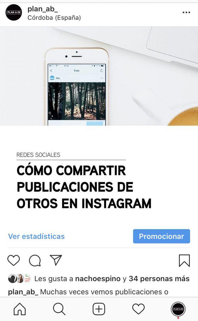 Foto Instagram con ubicación