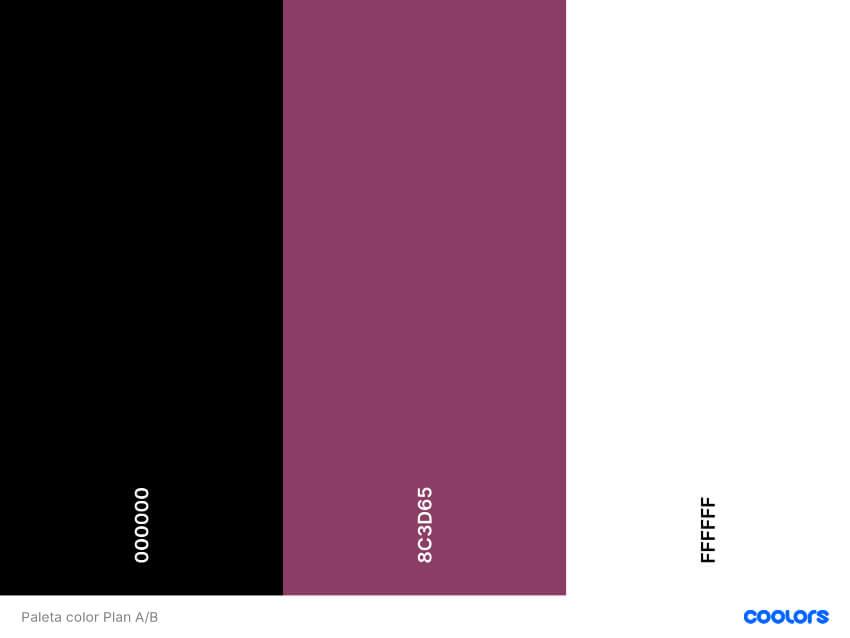 Paleta color Plan A/B