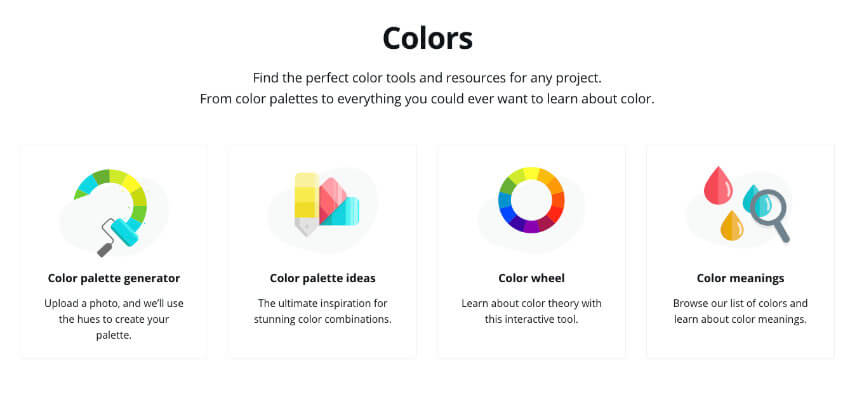 Paletas de colores en Canva
