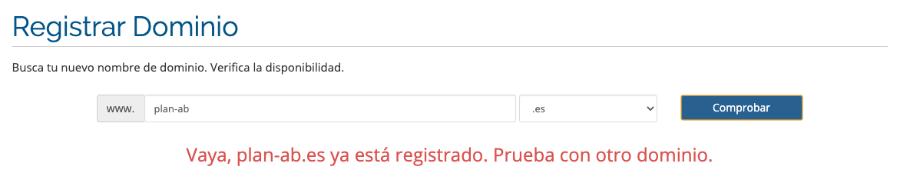 Cómo registrar un dominio web