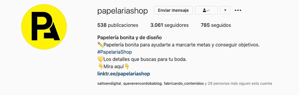 Nombre de usuario de Instagram