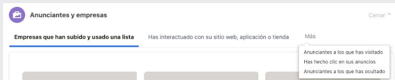 Anunciantes y empresas publicidad Facebook