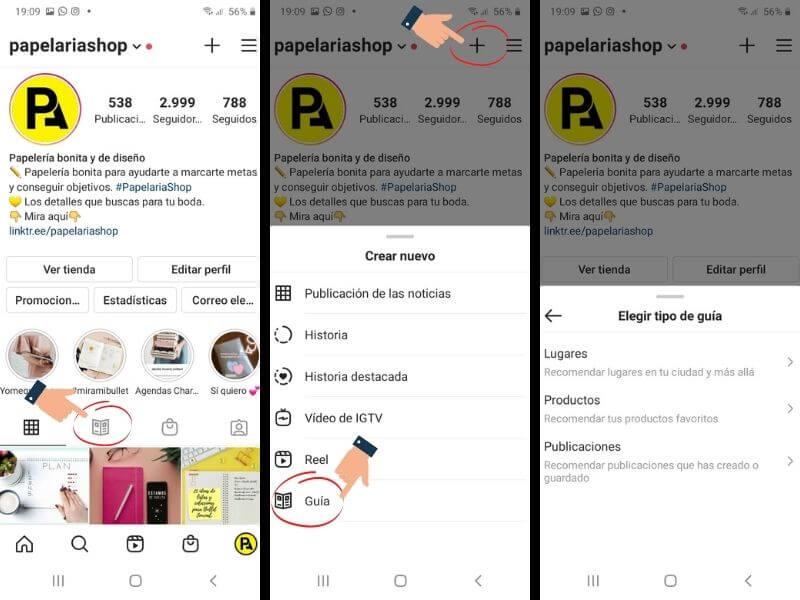 Crear una guía de Instagram