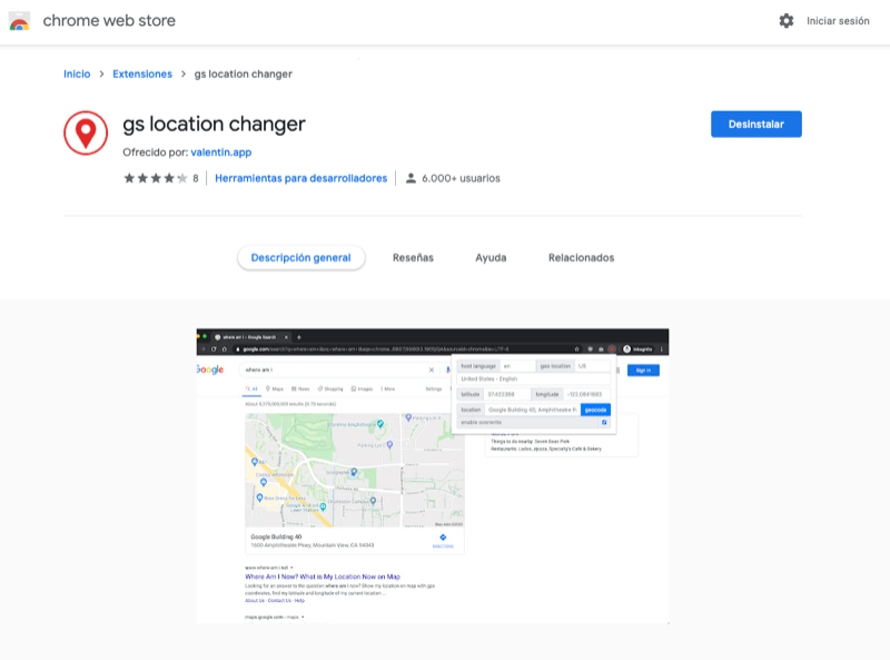 cambiar ubicacion de busqueda google