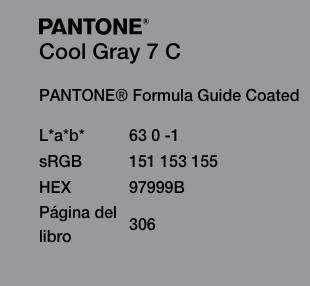 Códigos de color del Ultimate Gray
