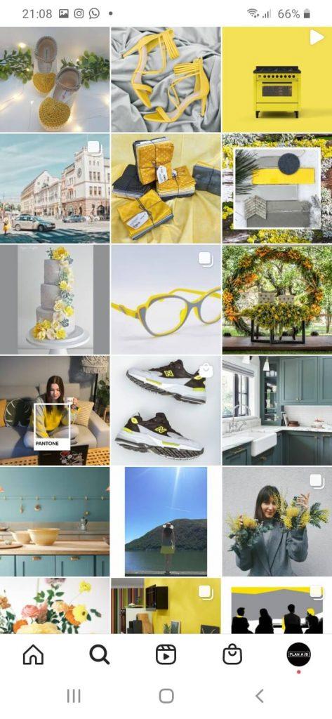 Colores Pantone del año 2021 en Instagram
