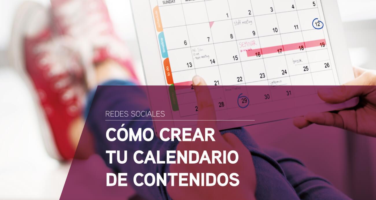 como crear calendario contenidos