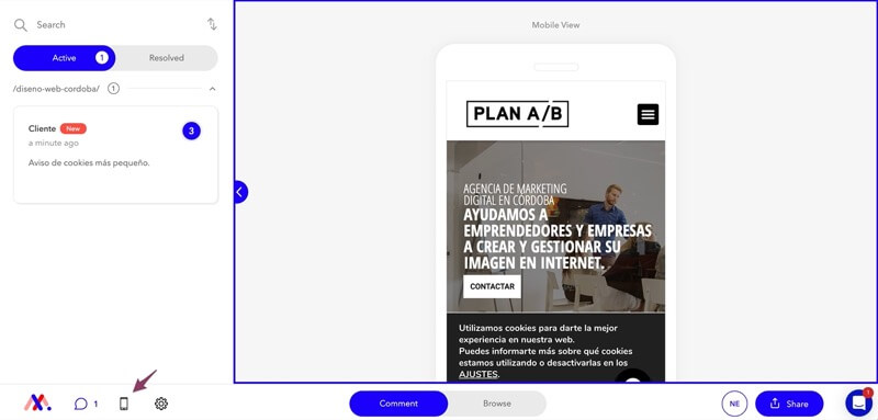 Cambios en el diseño responsive para versión móvil