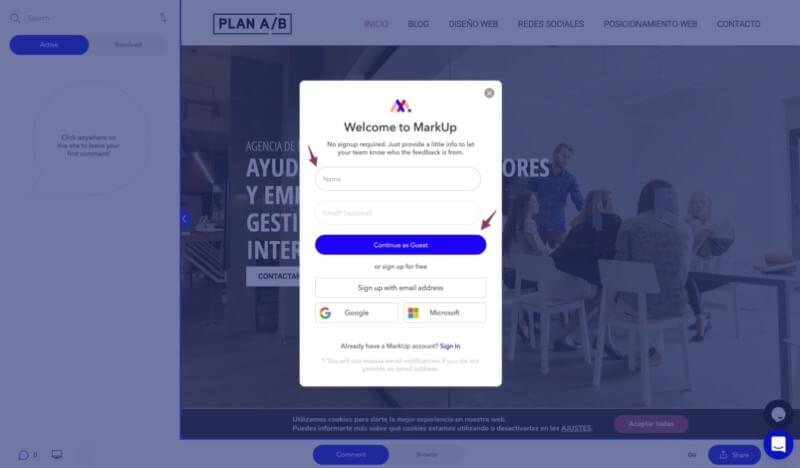 cambios de cliente de diseño web