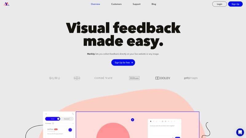 cambios de diseño con markup.io